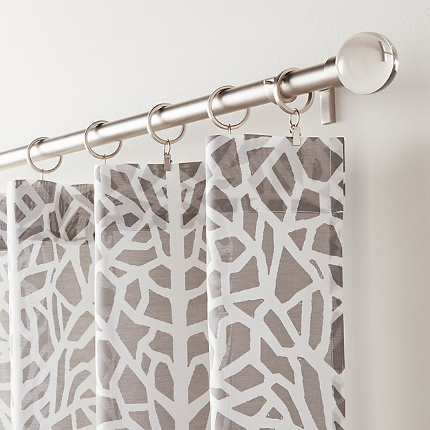 Mattea Grey and White Curtain Panel - Image 1 of 7