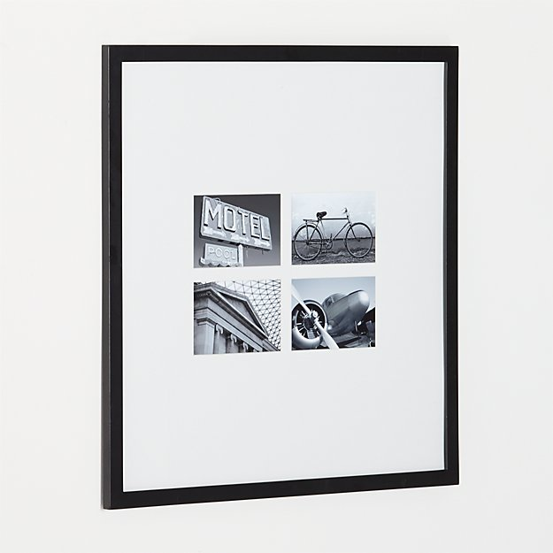 Matte Black 4-Opening 4x6 Frame + Reviews | Crate and Barrel