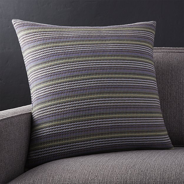 "Matty 20"" Striped Pillow with Feather-Down Insert"