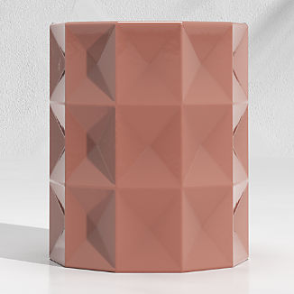 Mauve Faceted Garden Stool End Table
