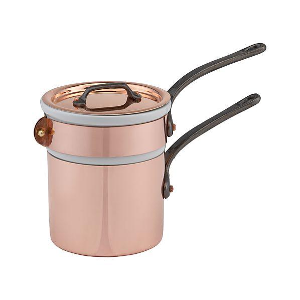 Mauviel M'Heritage Copper .9 qt. Double Boiler