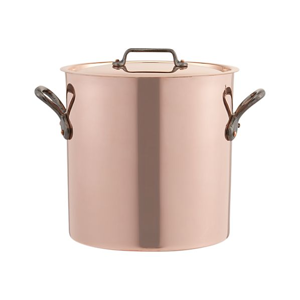 Mauviel M'Heritage Copper 11.7 qt. Stock Pot