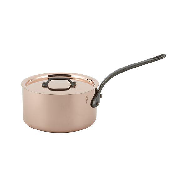 Mauviel M'Heritage Copper-Cast Iron 1.9 qt. Sauce Pan