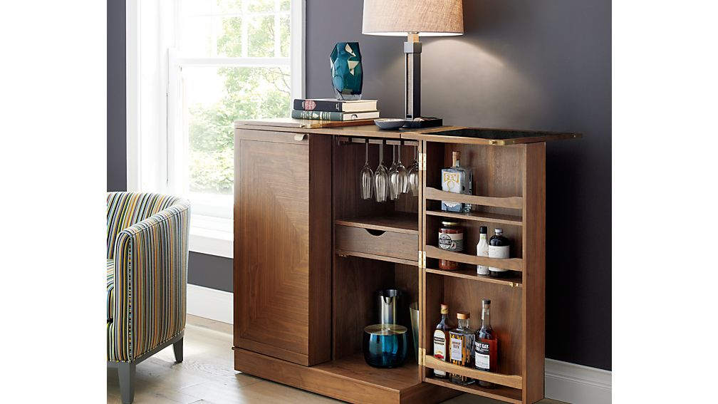 Maxine Bar Cabinet | Crate and Barrel