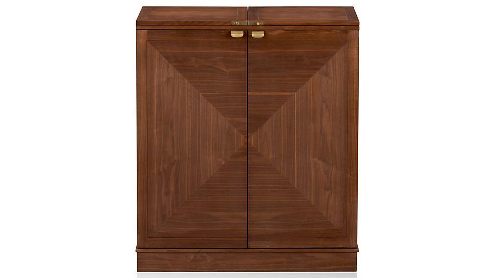 maxine bar cabinet reviews crate and barrel. Black Bedroom Furniture Sets. Home Design Ideas
