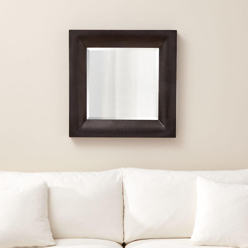 Maxx Black Wall Mirror - Crate and Barrel
