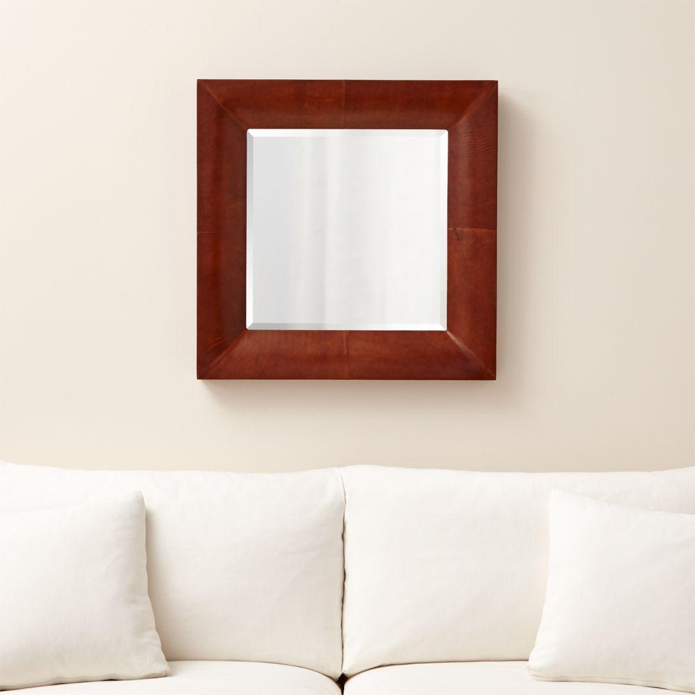 Maxx Chocolate Wall Mirror - Crate and Barrel
