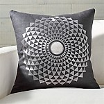 Mears Silver Medallion Pillow with Feather-Down Insert 20