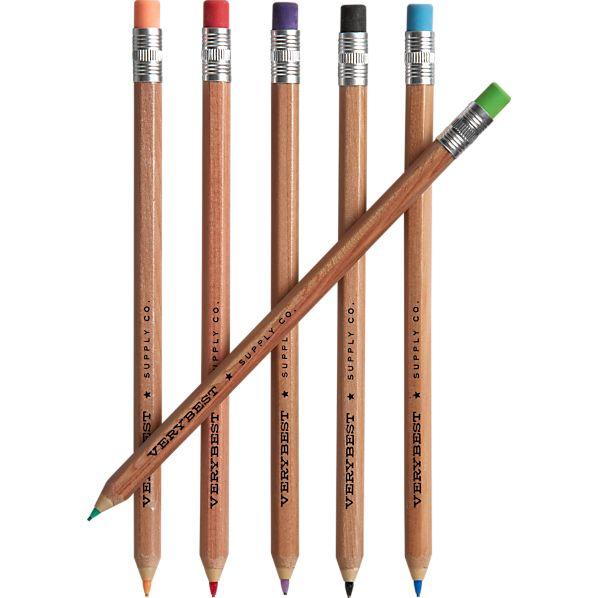 Set of 6 Colored Mechanical Pencils