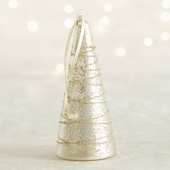 Silver Mercury Glass Tree Ornament