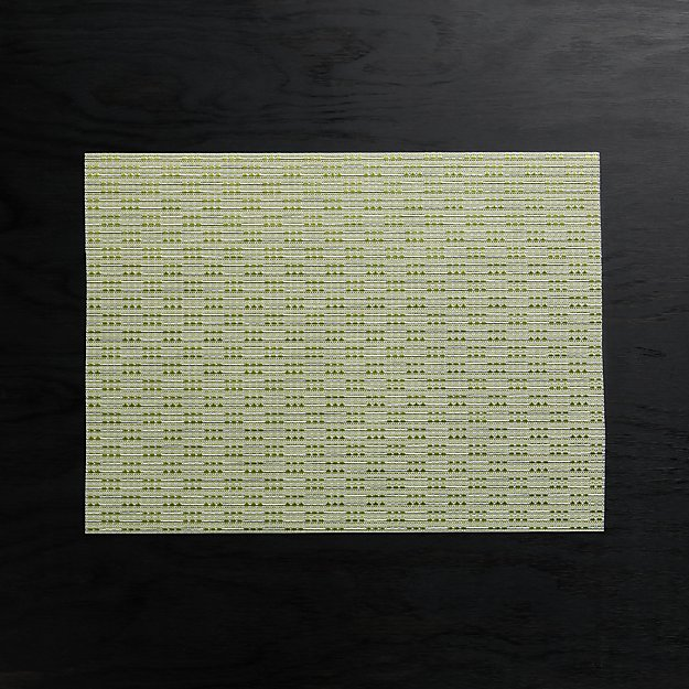 Meka Green Easy-Care Placemat - Image 1 of 4