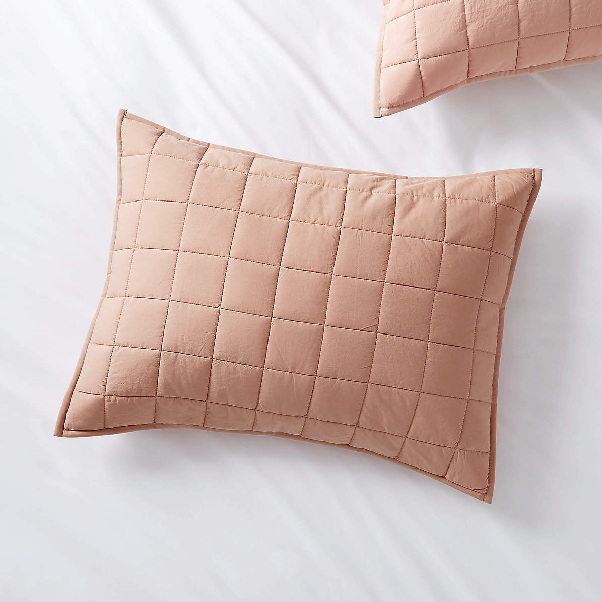 Mellow Blush Standard Quilted Sham Crate And Barrel