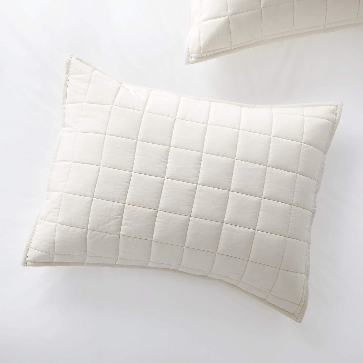 Mellow Pearl Standard Quilted Sham Crate And Barrel