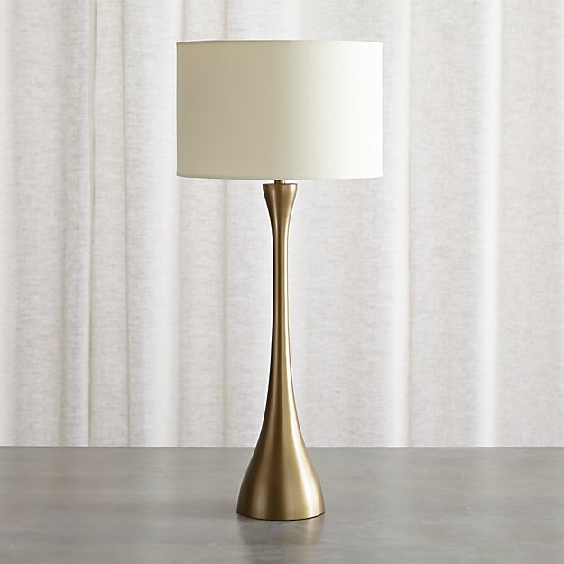 Crate And Barrel Exclusive Melrose Brass Table Lamp