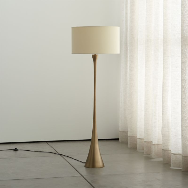 Octavia Floor Lamp Brass: Melrose Brass Floor Lamp + Reviews