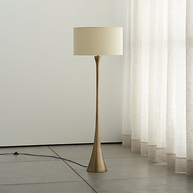 Melrose brass floor lamp in lamps reviews crate and barrel