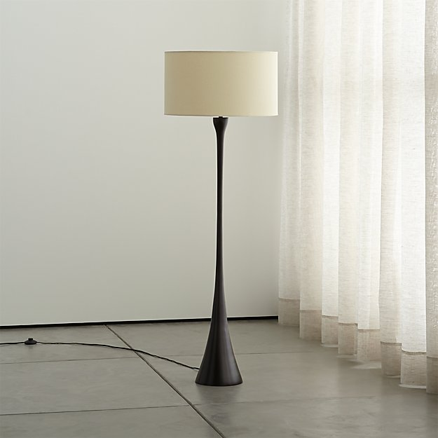 Crate and Barrel Exclusive. Melrose Bronze Floor Lamp - Melrose Bronze Floor Lamp Crate And Barrel