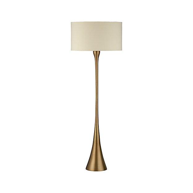 Melrose Mid Century Brass White Shade Floor Lamp: Melrose Brass Floor Lamp + Reviews