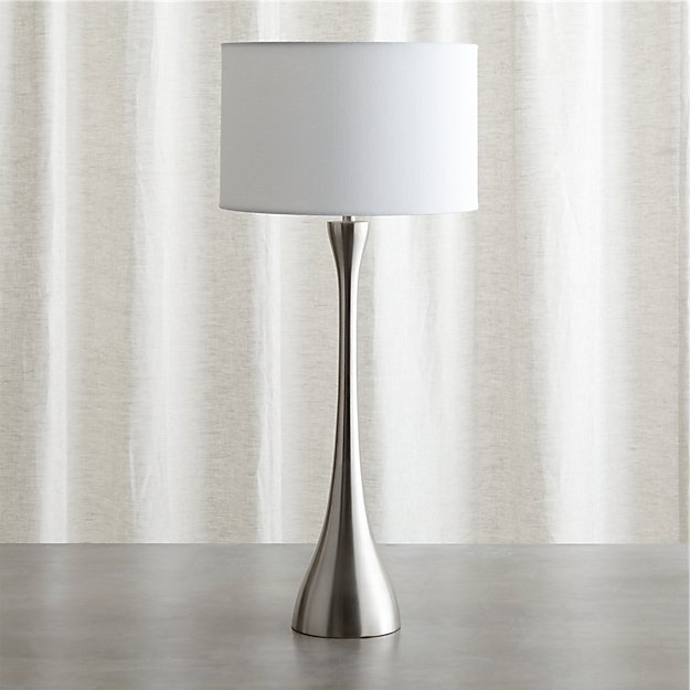 Melrose Nickel Table Lamp Reviews Crate And Barrel