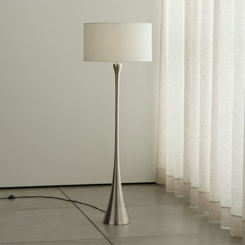 Melrose Nickel Floor Lamp Reviews Crate And Barrel