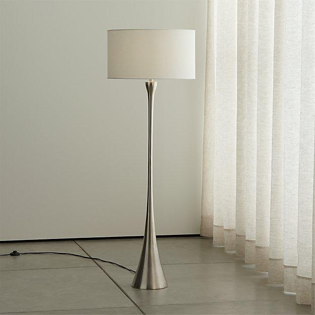Melrose Mid Century Brass White Shade Floor Lamp: Melrose Nickel Floor Lamp