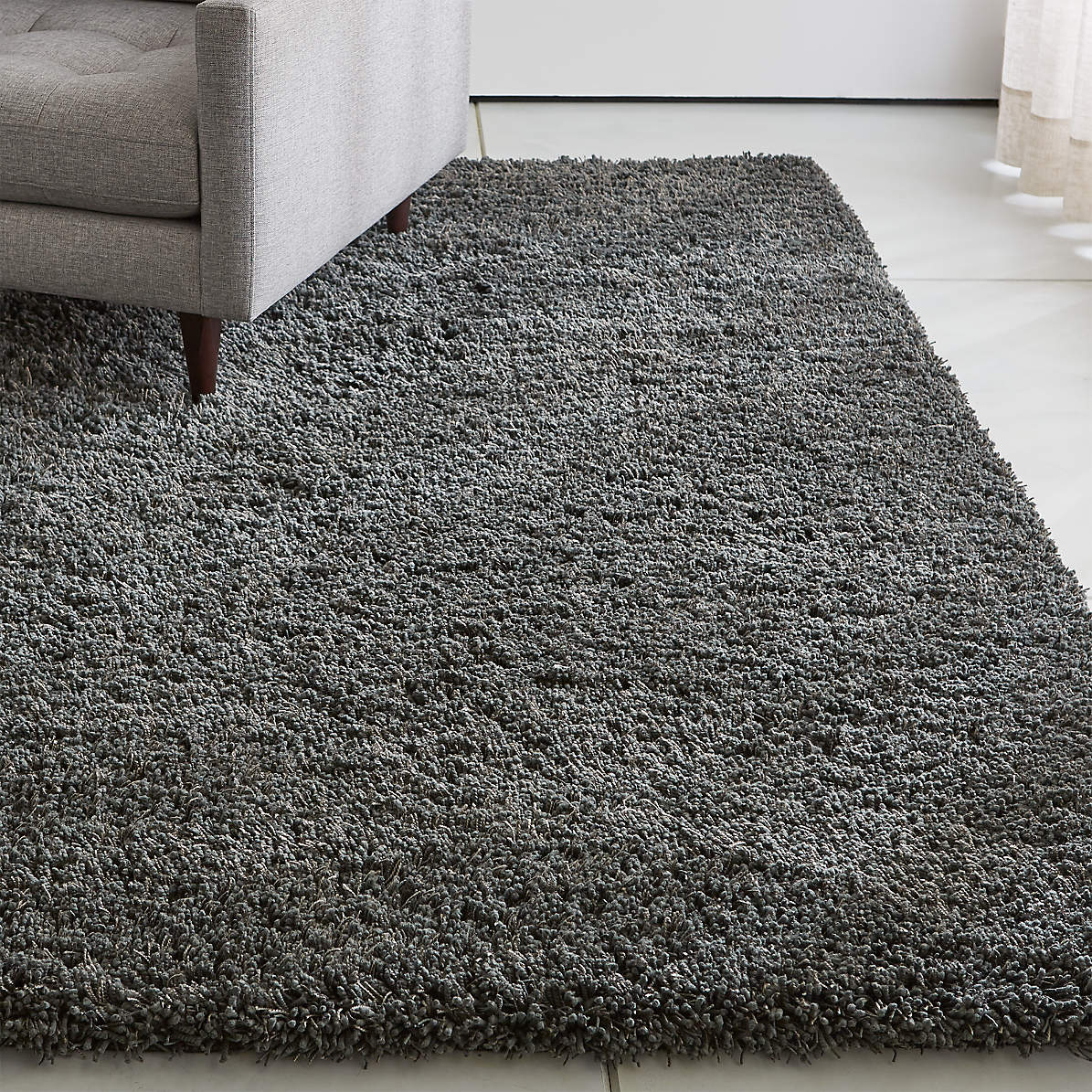 Picture of: Memphis Grey Shag Rug Crate And Barrel