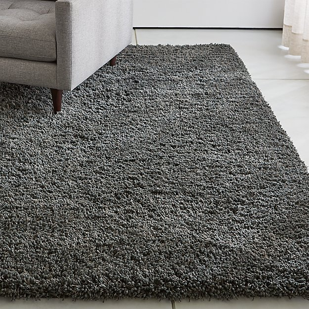 Memphis II Steel Grey Shag Rug - Image 1 of 8