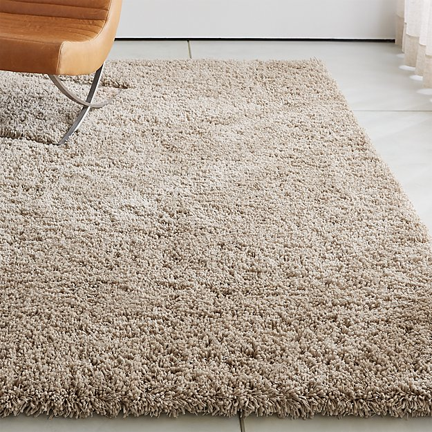 Memphis Stone Natural Shag Rug Crate And Barrel