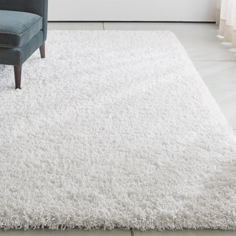 Memphis White Shag Rug Crate and Barrel
