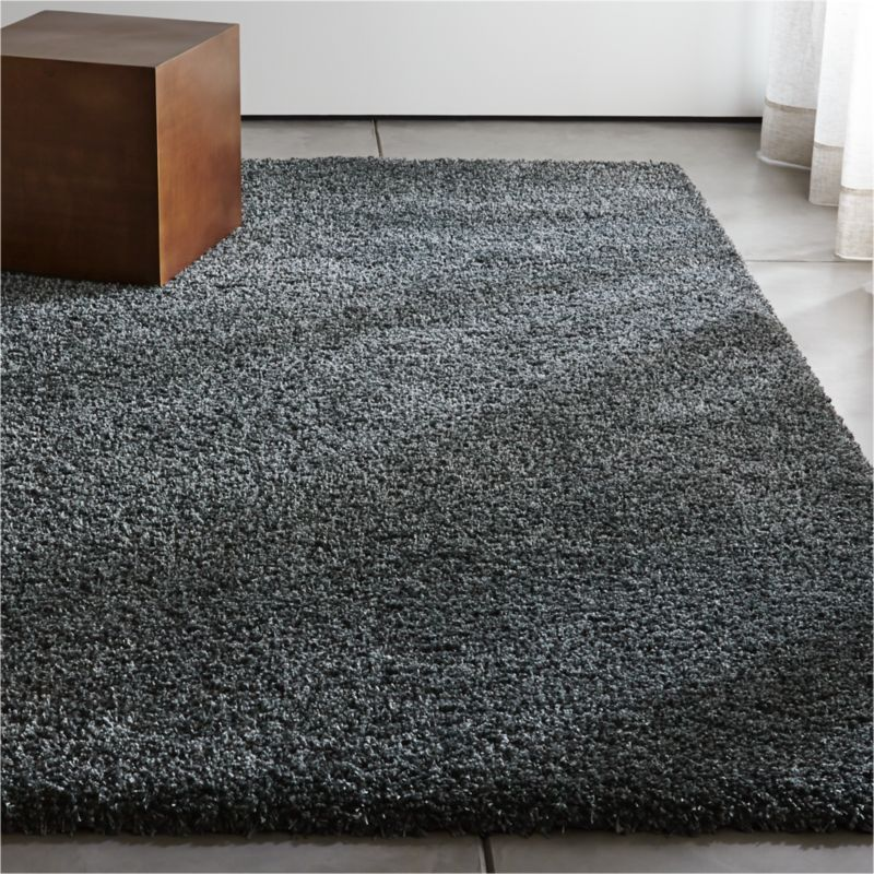 gray shag rug grey shag rug crate and barrel 29992