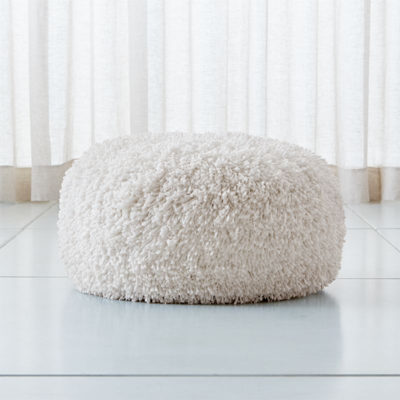 Memphis White 24 Quot Round Pouf Reviews Crate And Barrel