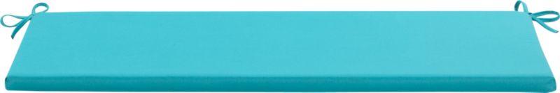 Civilized outdoor entertaining at an inviting price. Optional weather-resistant bench cushion with tie closures is covered in bright aqua Sunbrella acrylic.<br /><br /><NEWTAG/><ul><li>Fade- and mildew-resistant Sunbrella solution-dyed acrylic</li><li>Water repellent</li><li>100% polyeurethane insert</li><li>Fabric tie closures</li></ul>