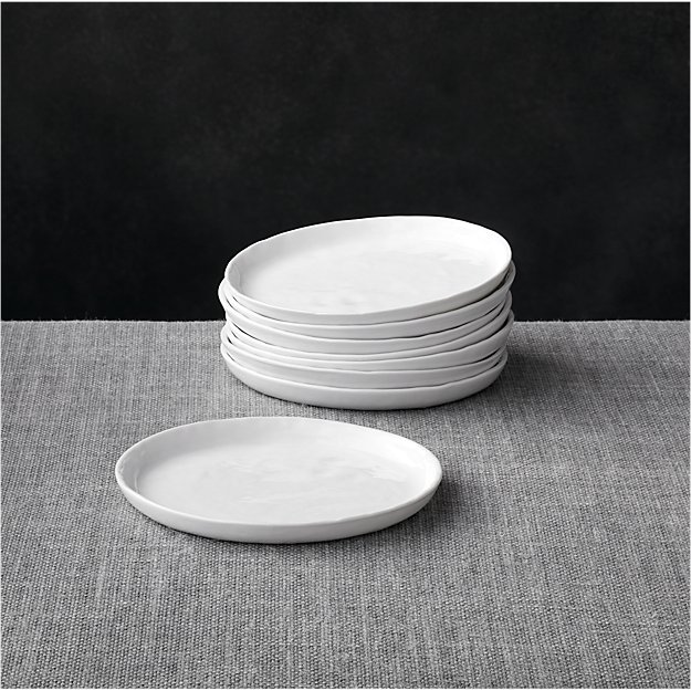 Set of 8 Mercer Appetizer Plates | Crate and Barrel