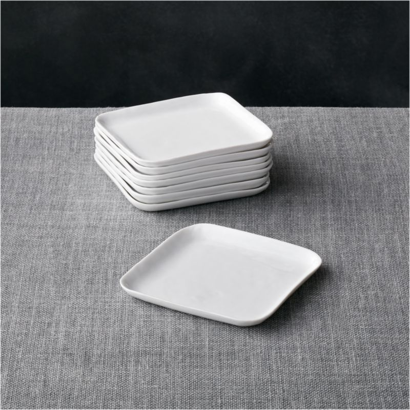 Set Of 8 Mercer Square Appetizer Plates Reviews Crate