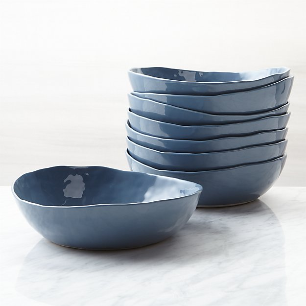 Mercer Denim Low Bowls, Set of 8 - Image 1 of 4