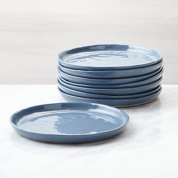 Mercer Denim Appetizer Plates, Set of 8 - Image 1 of 4
