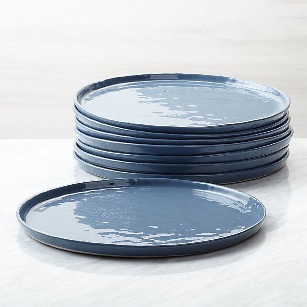 Mercer Denim Dinner Plates, Set of 8 - Image 1 of 4