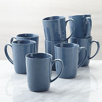 Mercer Denim Mugs Set Of 8