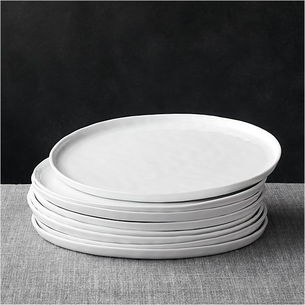 Set of mercer dinner plates crate and barrel