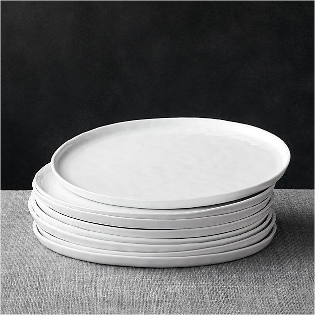 Set of 8 Mercer Dinner Plates - Image 1 of 9