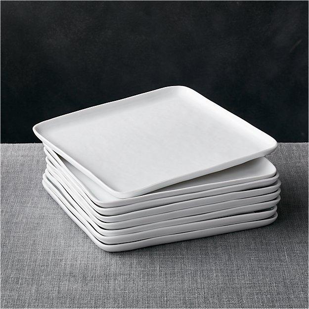 set of 8 mercer square dinner plates reviews crate and. Black Bedroom Furniture Sets. Home Design Ideas