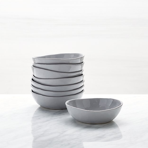 Mercer Grey Mini Bowls, Set of 8 - Image 1 of 3