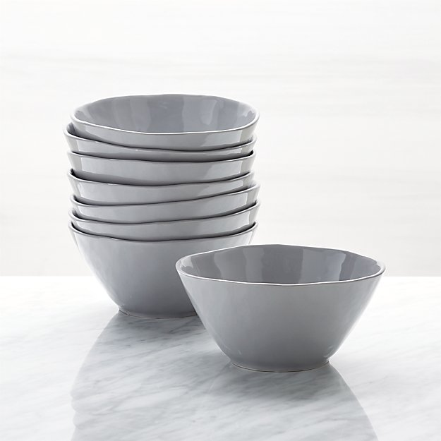 Mercer Grey Bowls, Set of 8 - Image 1 of 3