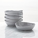 Mercer Grey Low Bowls, Set of 8