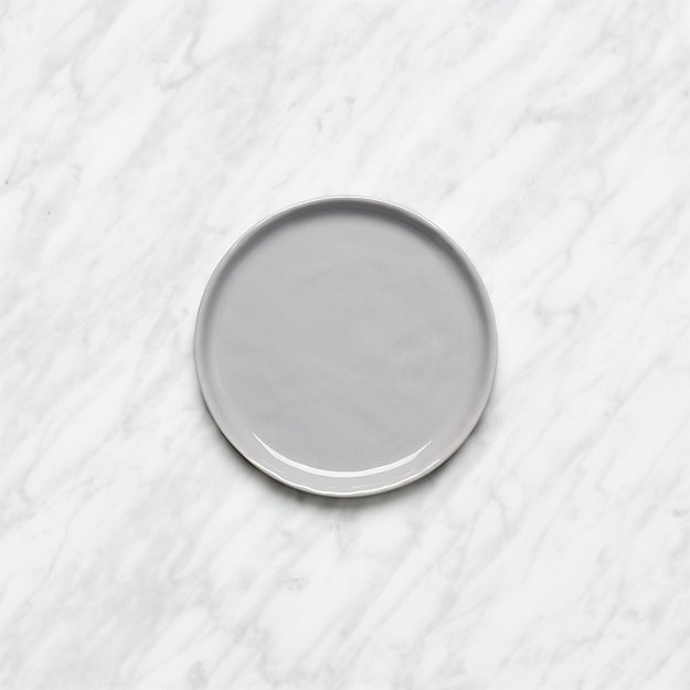 Mercer Grey Round Appetizer Plate - Image 1 of 5