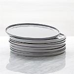 Mercer Grey Round Dinner Plates, Set of 8
