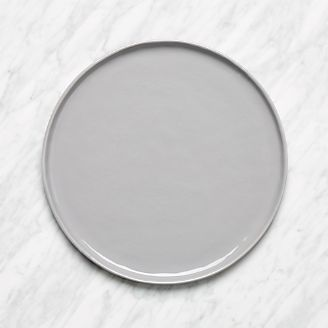 Mercer Grey Round Dinner Plate & Dinner Plates: Square Oval Rectangular u0026 Round | Crate and Barrel