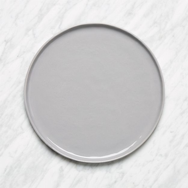 mercer grey round dinner plate reviews crate and barrel