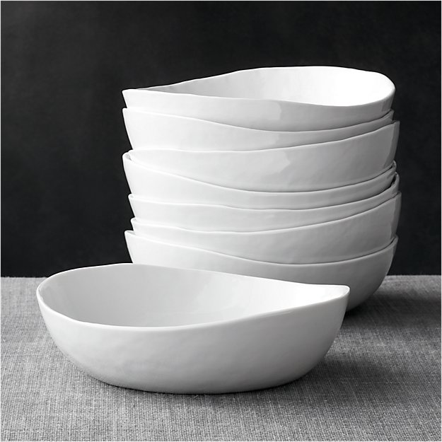 "Set of 8 Mercer 8"" Low Bowls"