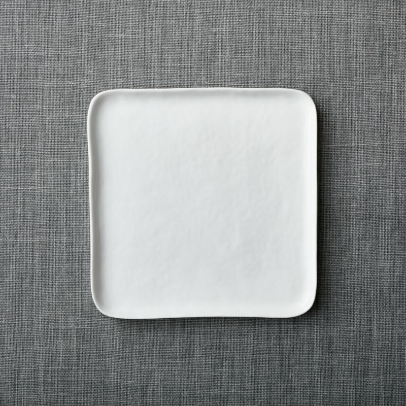 Mercer Square Salad Plate & Mercer Square Dinner Plate + Reviews | Crate and Barrel